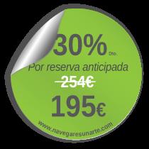 Precio prácticas homologadas de vela - 195 euros